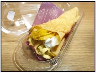 安納芋のクレープ中身写真