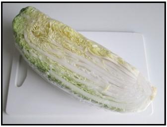 白菜4分の1の画像