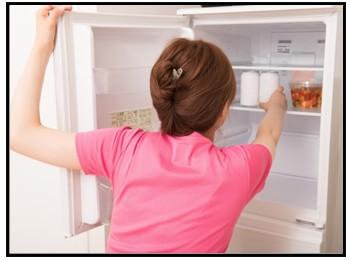 冷蔵保存の画像